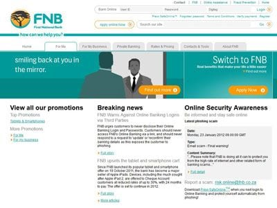 fnb online banking sa official site