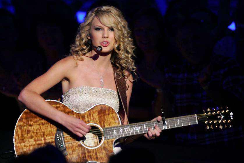 LAS VEGAS - MAY 15:  Musician Taylor Swift performs onstage during the 42nd Annual Academy Of Country Music Awards held at the MGM Grand Garden Arena on May 15, 2007 in Las Vegas, Nevada.  (Photo by Ethan Miller/Getty Images) *** Local Caption *** Taylor Swift
