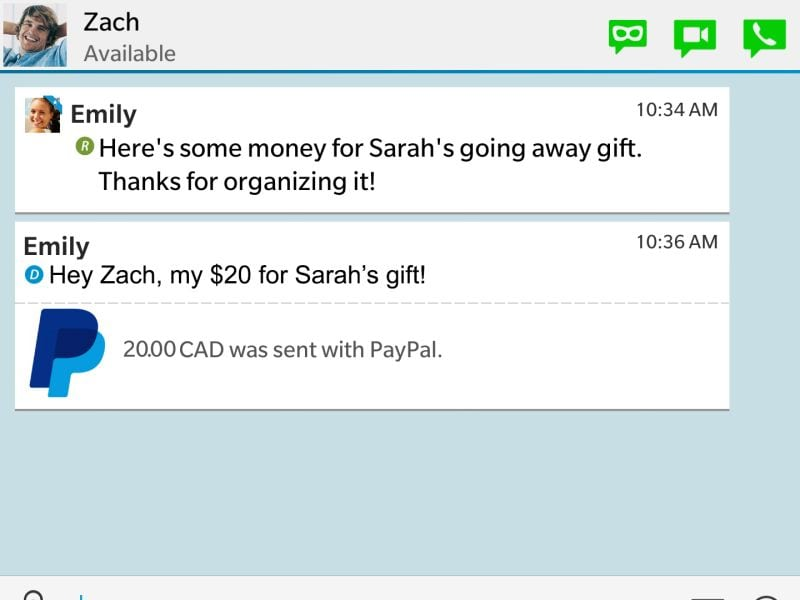 Send and Receive Money via PayPal On BBM